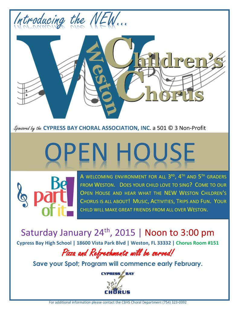 Weston Children's Chorus Open House